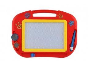 Magnetická tabulka kreslící barevná s doplňky plast v krabici 32x24x3cm