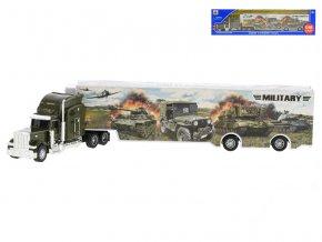 Kamion vojenský 35cm kov na volný chod