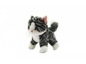 Kočka stojící plyš se zvukem 21cm v sáčku