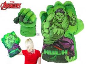 Avengers rukavice plyšová 56cm Hulk 0m+