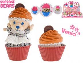 Cupcake medvídek plyšový 10cm vonící v blistru