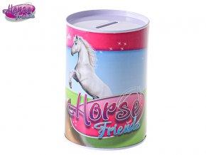 Horse Friends pokladnička 8,5x12cm kov