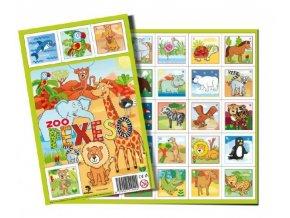 Pexeso Zoo papírové společenská hra 32 dvojic 27x23cm