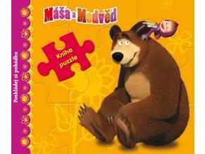 Máša a medvěd - Kniha s puzzle - Poskládej si pohádku - O. Kuzovkov