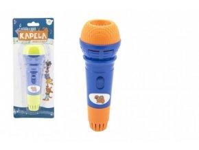 Mikrofon s ozvěnou plast Zvířátka a jejich kapela 19cm 2 barvy na kartě