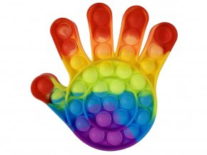 pop it duhova rainbow ruka dlan