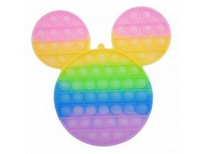 pop it mickey mouse trpytivy glitter duhovy