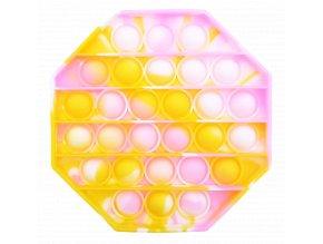 pop it osmisten oktagon osmihran holcici ruzova zluta bila