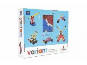 Stavebnice Variant plast 280ks v krabici 33x28x8cm