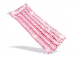 Lehátko nafukovací růžové třpytivé 170x53cm
