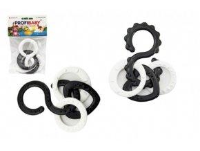 Osmičky s přívěsky plast černobílé 10cm 2 druhy skladem