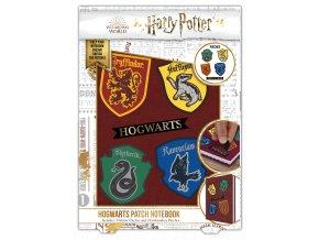 Blok A5 Harry Potter znaky kolejí