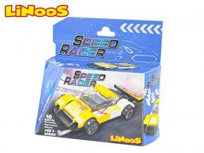 LiNooS stavebnice 40ks auto sportovní na volný chod skladem