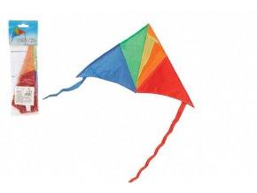 Drak létající nylon delta 45x25cm barevný v sáčku