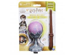 Harry Potter věštecká koule s hůlkou - fosforeskující