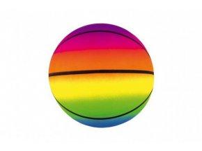 Míč basketbal gumový nafouknutý 20cm v síťce