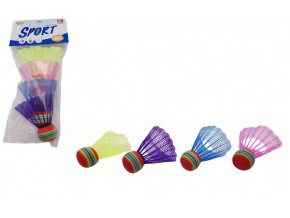 Míčky/Košíčky na badminton barevné 4ks plast skladem