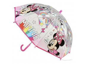 Dětský manuální deštník Disney Minnie průsvitný
