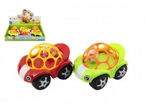 Auto pro nejmenší s míčkem 8x11cm 2 barvy (1 ks)