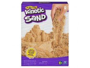 Kinetic sand 2,5 kg hnědého tekutého písku