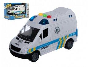 Auto policie dodávka plast 15cm na setrvačník na baterie se zvukem se světlem skladem