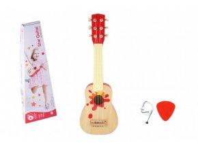 Kytara dřevo 52cm s trsátkem v krabici 56x19x7cm