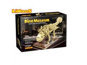 linoos stavebnice 194ks skelet dinosaurus ankylosaurus 2