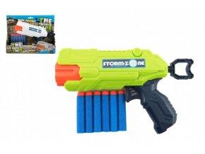 Pistole na pěnové náboje 22cm plast + 6 ks nábojů skladem