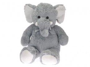 Slon plyšový 80cm s mašlí 0m+ skladem