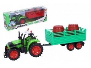 Traktor s vlečkou plast 35 cm na setrvačník 3 druhy skladem