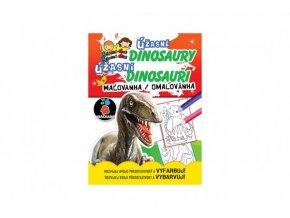 Omalovánky/Maľovanky Úžasné dinosaury/dinosauri CZ + SK verze skladem