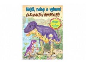 Pracovní sešit Najdi, nalep a vybarvi Fascinující dinosauři CZ verze skladem