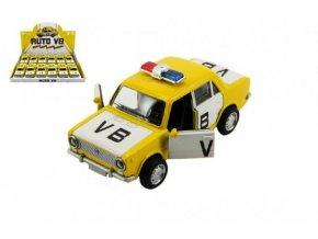 Auto policie VB Lada 1200 VAZ kov 12cm na baterie se zvukem a světlem (1 ks) skladem
