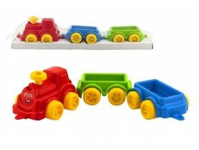 Vlak/Vláček s vagónkami 60cm plast skladem