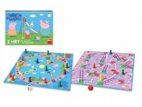 Pojď si hrát/Žebříky a skluzavky 2 společenské hry Prasátko Peppa/Peppa Pig skladem