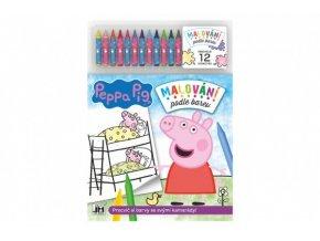 Malování podle barev Prasátko Peppa/Peppa Pig + 12 voskovek skladem
