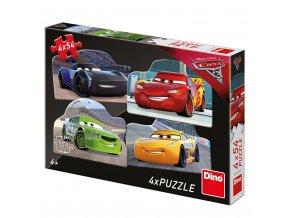 Dino CARS 3: RIVALOVÉ 4x54 Puzzle