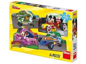 dino puzzle mickey a minnie na zavodech 4x54 dilku 0.jpg.big