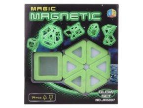 magneticka stavebnice 14 ks svitici skladem