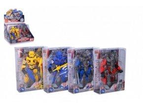 Robot bojovník skládací plast 17 cm 4 barvy v krabičce 15x20,5x6cm (1 ks)