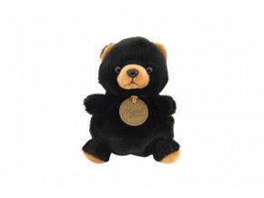Medvěd/Medvídek černý sedící plyš 11x11x10cm 0+