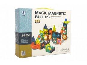 Magnetická stavebnice plast 66ks v krabici 31x25x8cm