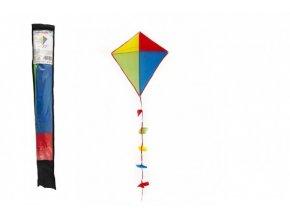 Drak létající nylon 70x60cm barevný v sáčku 10x70cm