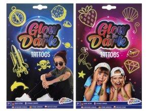Tetování svítící ve tmě skladem
