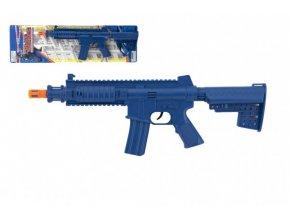 Samopal/puška na setrvačník plast 40cm na kartě 15x52cm