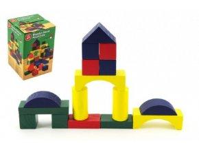 Kostky dřevo 2,5cm barevné 75ks v krabici