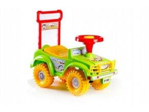 Odrážedlo auto zelené 53,5x48,3x26cm nosnost 20kg v krabici od 12 do 35 měsíců