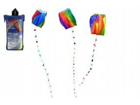 Drak létající nylon 60x51cm asst 3 druhy v plastovém sáčku