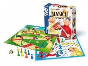 Hasiči Pat a Mat společenská hra v krabici 20x20x5cm