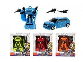 Transformer auto/robot plast 17cm asst 4 barvy v krabici